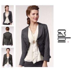• CAbi Work It Puplum Belted Work Jacket #769 •